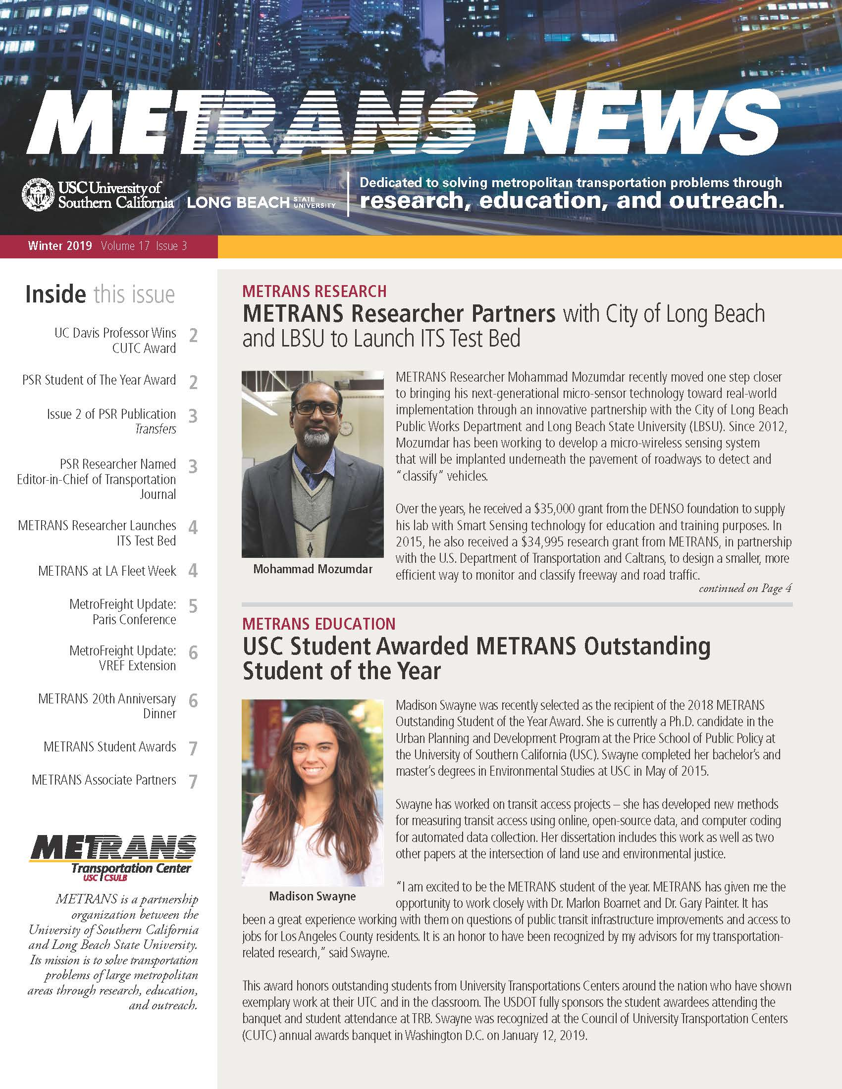 Photo: METRANS Newsletter